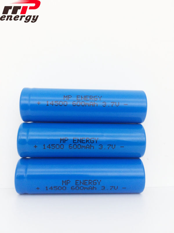 UN38.3 TISI MSDS Rechargeable Lithium Ion Batteries 14500 600mAh 3.7V 80 Ohms